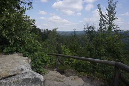 View from the Kingsplace in Saxon Switzerland, Germany