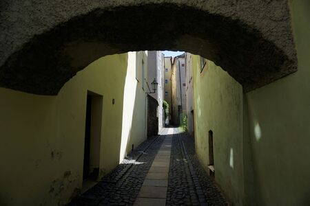 Narrow traitor street in the old town of Goerlitz, Germany