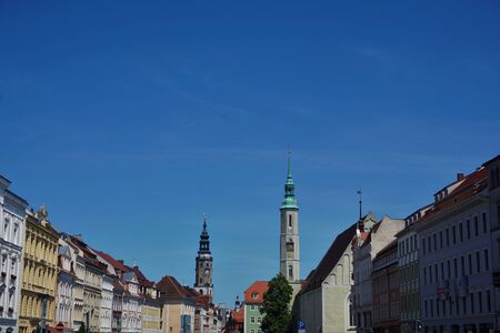 View over the Obermarkt square in the old town of Goerlitz, Germany
