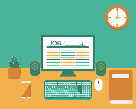Job search as I need job so badly vector