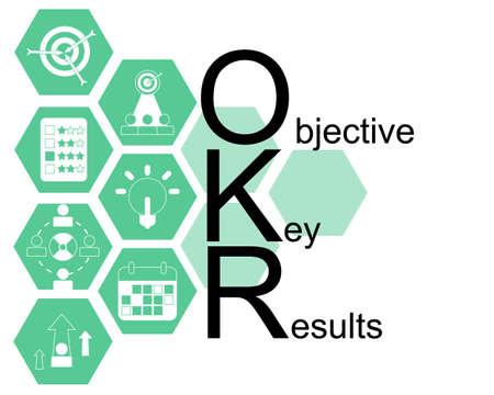 Objective Key Results sign vector