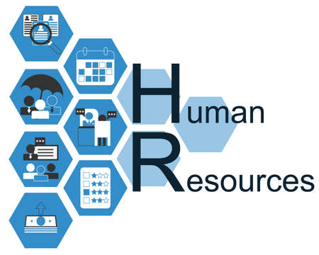 Human Resources sign with HR icon vector