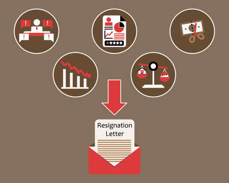 many reasons to resign vector Illustration