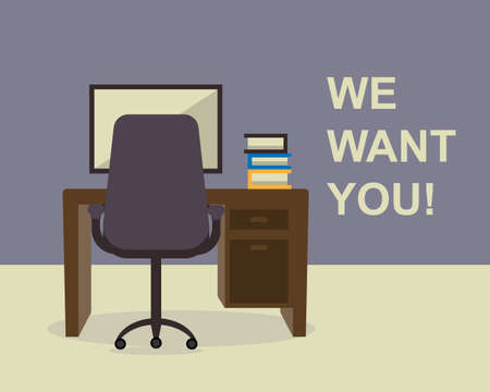 We want you for this job vector Illustration