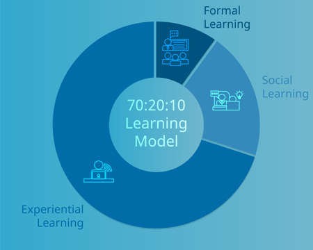 70:20:10 learning model in human resources vector 일러스트