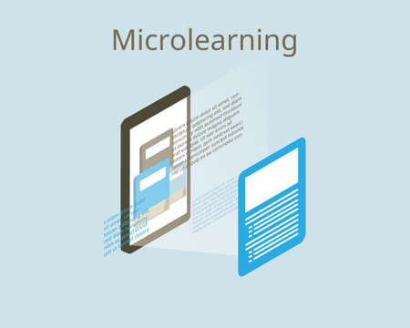 microlearning from books to summarize important information vector