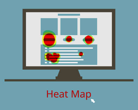 data visualization technique called heatmap webpage shows user behavior on specific webpages