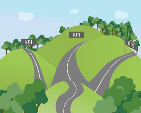 the long road to separate achieve KPI (Key Performance Indicator vector