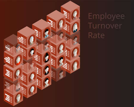 employee turnover rate in human resources analytic vector