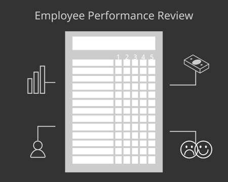Employee performance review form to evaluate annual performance vector 向量圖像