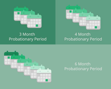 3 month and 6 month probationary period vector