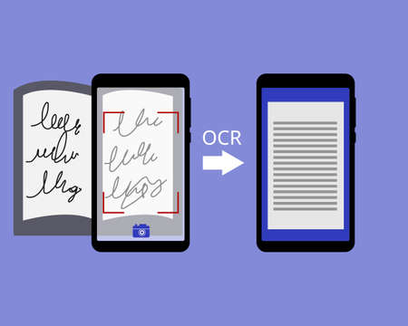Optical Character Recognition (OCR) application to convert handwritten to text vector