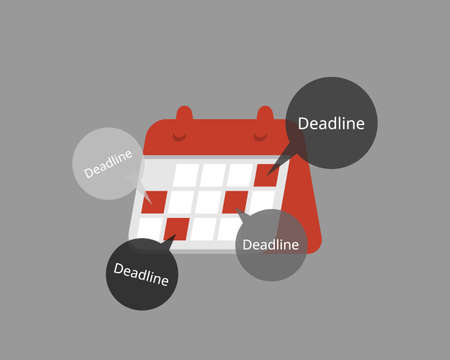 Urgent and fixed deadline to be done urgently vector