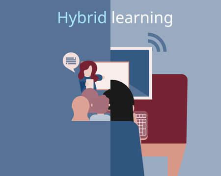 Hybrid Learning model for learning both from home and face to face