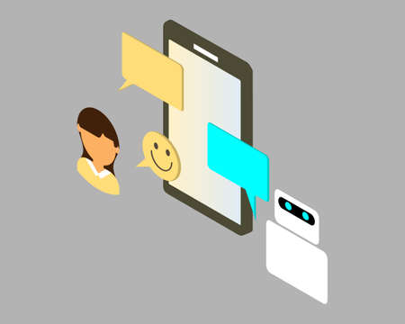 Custom HR chatbot for automatically answers your employee queries to give good employee experiences vector