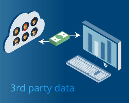 third party data buy from other sources vector