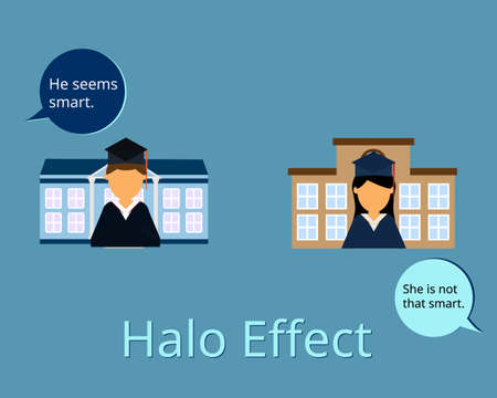 Halo Effect Influences How We Perceive and judge others Illustration