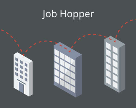 Job hopper who frequently move or change job vector
