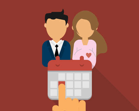 leave request for maternity and Paternity leave for men vector