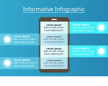 informative Infographic template for business. technology diagram for presentation vector infographic