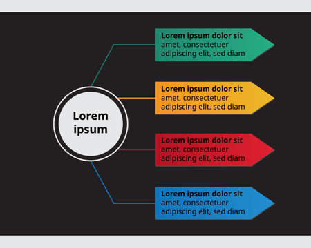 technology Infographic template for business with 4 elements. technology diagram for presentation vector infographic
