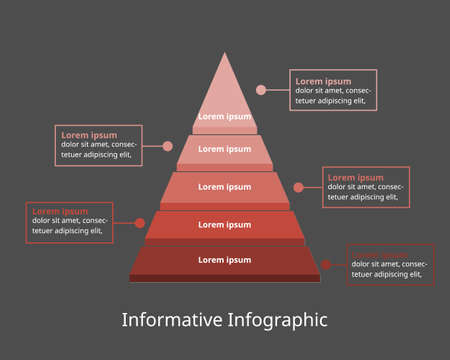 informative Infographic template for business. step diagram for presentation vector infographic
