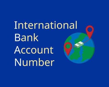 IBAN or International Bank Account Number for EU countries to transfer overseas Vektorgrafik