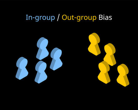 in-group–out-group bias or in-group favoritism is a pattern of favoring members of one's in-group over out-group members