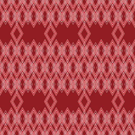 seamless pattern with diamond shape in red background for Wallpaper, fabric, and textile design