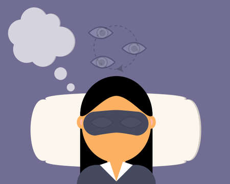 REM or rapid eye movement in sleep circle which is the sleep stage that make you dream