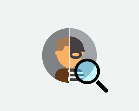 criminal background check on candidates before hiring Ilustración de vector