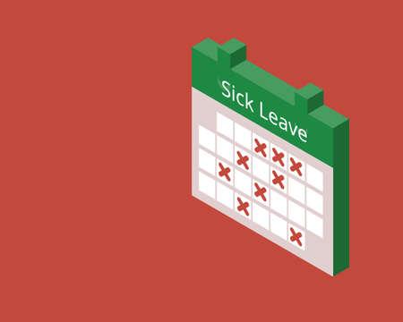 employee takes too much sick leave at work Vektoros illusztráció