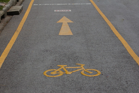 provided: The bike path is provided for safety.