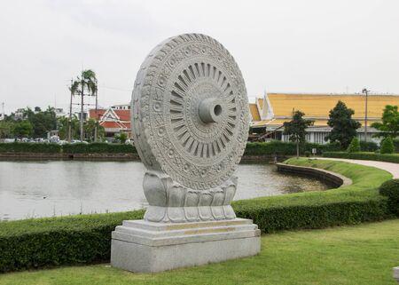 bouddhisme: La sculpture, qui repr�sente l'illumination dans le bouddhisme. Banque d'images