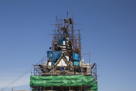 concreting: The construction of buildings in Thailand. Stock Photo