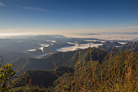 national parks: Khao leam national parks highest peaks in Kanchanaburi in Thailand.