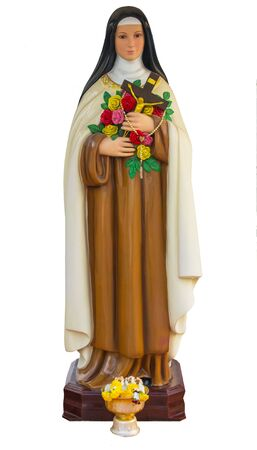 theologian: Nun statue with isolated