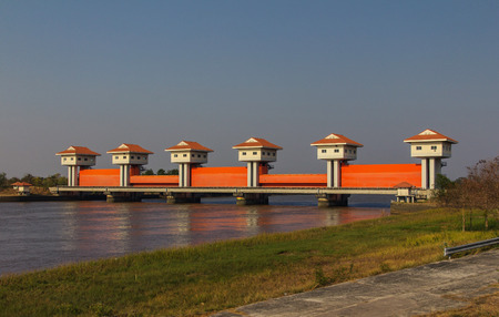 dams: Bang Pakong Dam. The small dams are used for irrigation.