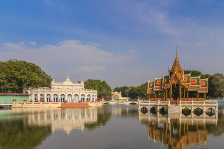 Bang Pa-in Royal Palace in Thailand Stock Photo
