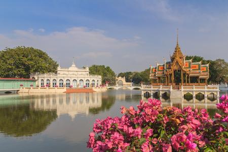 calmness: Bang Pa-in Royal Palace in Thailand Stock Photo