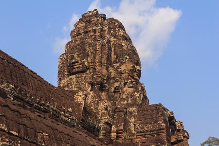 cambodia sculpture: Faces at Bayon Castle Cambodia