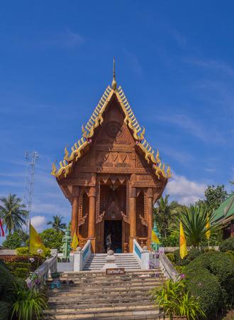 Thai temple made of beautiful wood.
