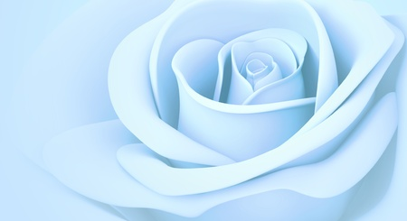 light blue rose colors isolated 3d background  photo