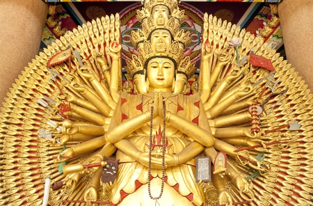 Guan Yin with ten thousand hands in thailand  photo