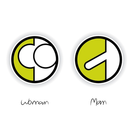male symbol: Vector Women and Men Toilet Sign