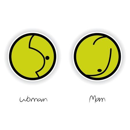 Vector Women and Men Toilet Sign Stock Vector - 11699795