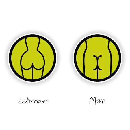 man and women wc sign: Women and Men Toilet Sign Illustration