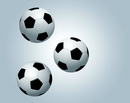 3 football soccer to continue icon design on light blue colors background. Isolated 3d model photo