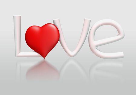 3D LOVE Concept of alphabet  photo