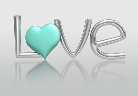 3D LOVE Concept of alphabet photo